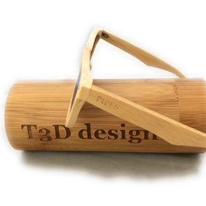 Other - Wooden Sunglasses - Bamboo - Wayfarer - Natural